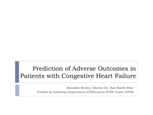 Prediction of Adverse Outcomes in Patients with Congestive Heart