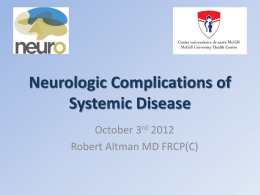 Altman - Neurology of Systemic Disease