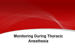 Monitoring During Thoracic Anesthesia