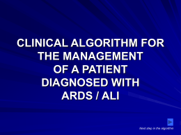 ARDS_CLINICAL ALGORITHM