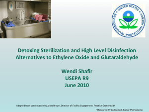 Detoxing Sterilization and High Level Disinfection - CA-HWI