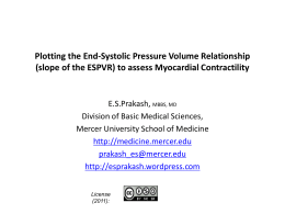 Plotting the End-Systolic Pressure Volume Relationship