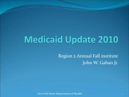 Medicaid Update 2010