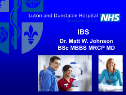 IBS – Irritable Bowel Syndrome – A practical approach