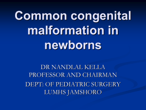 Common congenital malformation in new born