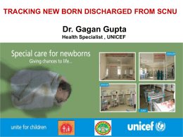SCNU - Welcome to Special New Born Care Unit
