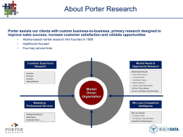 here - Porter Research