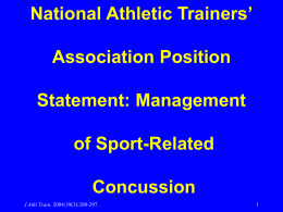 Management of Sport-Related Concussion