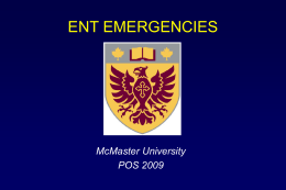 ENT Emergencies - McMaster University