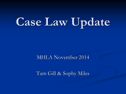 Case-Law-Update-MHLA-conference-2014
