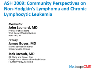 ASH 2009: Community Perspectives on Non-Hodgkin`s