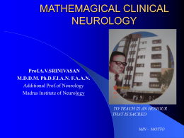 MATHEMAGICAL NEUROLOGY
