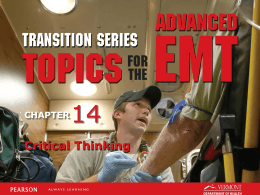 AEMT Transition - Unit 14 - Critical Thicking