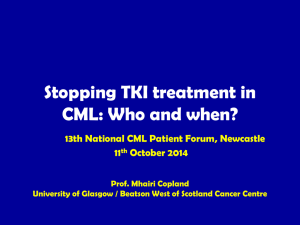 Presentation - Chronice Myeloid Leukemia