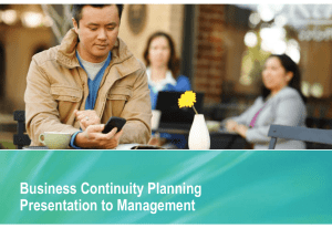 Business Continuity Planning PowerPoint to