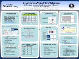 Benchmarking Critical Care Outcomes