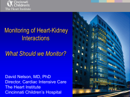 Monitoring Heart-Kidney Interactions