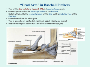 "Application: ""Dead Arm"" in Baseball Pitchers"