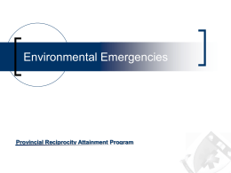 11 - Environmental Emergencies