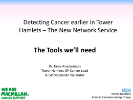 Cancer NIS the tools we will need, Dr Tania Anastasiadis