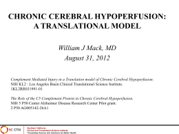 Chronic Cerebral Hypoperfusion: A Translational Model