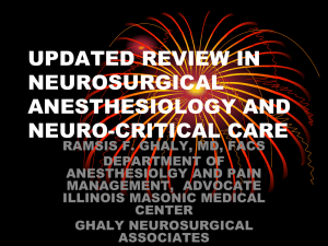 review update in neurosurgical anesthesiology