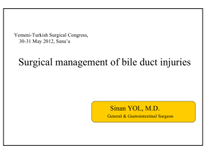 Surgical management of bile duct injuries