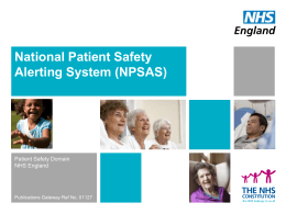 on NPSAS - NHS England