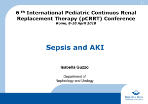 Guzzo-Sepsis and AKI - Pediatric Continuous Renal