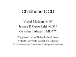 507 Childhood OCD - University Psychiatry