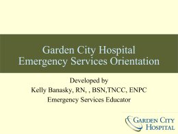 Garden City Hospital Emergency Services Orientation