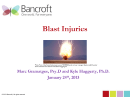 to the Blast Injury Presentation