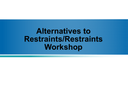Alternatives to Restraint