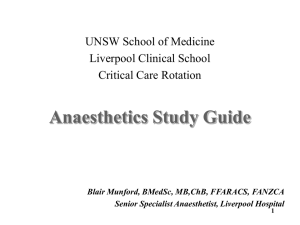 Anaesthetics Study Guide - Emergency Medicine Education