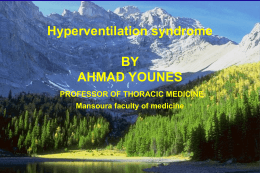 Hyperventilation Syndrome