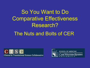 Introduction to Comparative Effectiveness Research