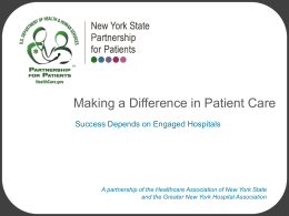 NYSPFP Presentation - NYS Partnership for Patients