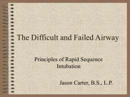 The Difficult and Failed Airway