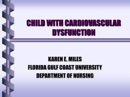 Pediatric Cariovascular Disfunction
