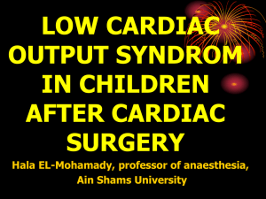 Low cardiac output syndrome