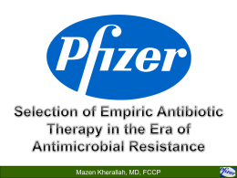 Selection of empiric antibiotic therapy