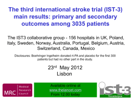 IST3 main results 1 - Centre for Clinical Brain Sciences