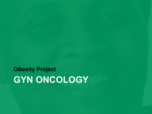 Obesity & Gyn Oncology