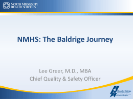 NMHS: The Baldrige Journey