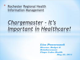 Chargemaster-It`s Importance in Healthcare!