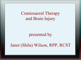 Craniosacral Therapy and Brain Injury presented by Janet (Shila