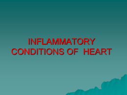 inflammatory conditions of heart - Nursing PowerPoint Presentations