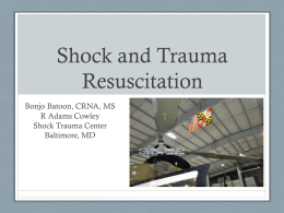 Shock and Trauma Resuscitation
