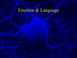 Emotion & Language