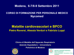 COPD - Clinica malattie apparato respiratorio